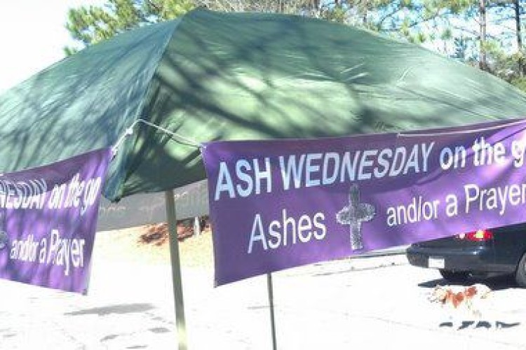 Church doesn't stop at the doors!  Along with San Damiano, we have provided 'Ashes on the Go' for several years on Ash Wednesday.