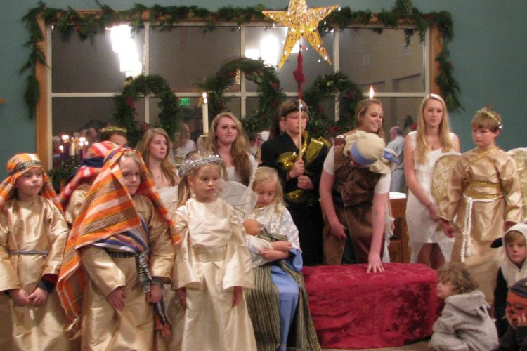 Our Christmas Eve pageant and our AWESOME young people!